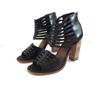 Dolce Vita Shoes - Dolce Vita Caged Woven Sandal Heeled Bootie